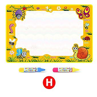 Types Water Drawing Mat & 2 Pens Water Writing Doodle Pad - Coloring Books Rug Kids Educational Toys