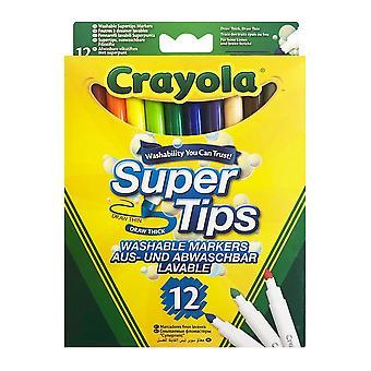 Crayola, 12x FeltPens - Super Tips