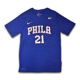 Nike Nba Icon Naam Nummer 76ERS Embiid Joel EZ2B711F176RJL universeel het hele jaar mannen t-shirt