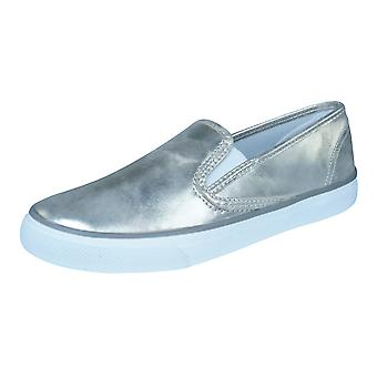 Sperry Seaside Womens Slip op lederen Trainers / schoenen - goud