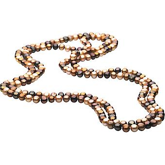 Freshwater Cultured Dyed Brown 8 9mm Pearl Necklace Jewelry Gifts for Women