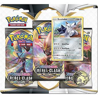 Pokemon TCG: Sverd & skjold 2 Rebel Clash 3-Pack Blister - En tilfeldig