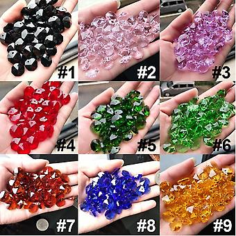 Crystal Ab Glass Art Lamp Prism Chandelier Chain Octagon Bead Ornament 14mm Spacer Connector