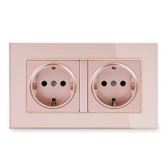 6a Eu Standard Electrical Double Outlet Power Socket