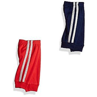 Simple Joys de Carter's Baby Boys 4-Pack Pant, Grey/Blue/Red Side Stripe, 24 luni