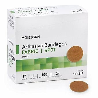 McKesson Adhesive Spot Bandage, 1-Inch, Tan, Case of 2400