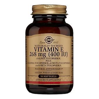 Solgar Vitamin E Mixed (d-Alpha Tocopherol and Mixed Tocopherols), 400 IU, 50 S Gels