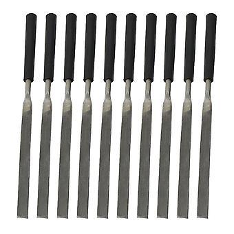 10x Bearing Steel Flat File Needle Set Jeweler Diamond Carving Tools