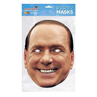 Máscara de máscara Desenfocada Silvio Berlusconi Máscara facial