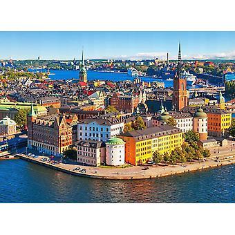 Tapet väggmålning Stockholm gamla stan