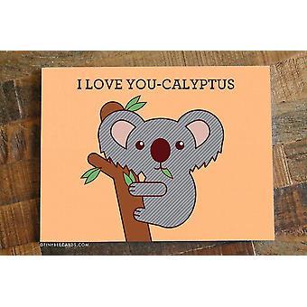 Koala Print Kærlighed kort