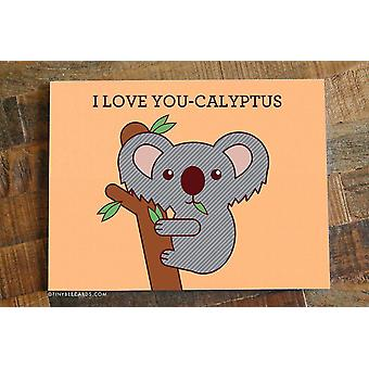 Koala Print Liebe Karte