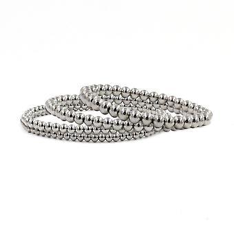 Bracciali perline in acciaio inossidabile