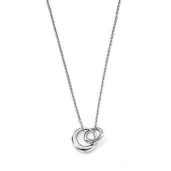 Elements Silver Interlocking Links Necklace of Length 46cm