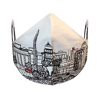 Washington DC Embroidered Skyline Fashionable Face Mask