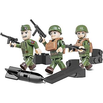 World War II American Airborn Division 3 Figure (26 pieces)