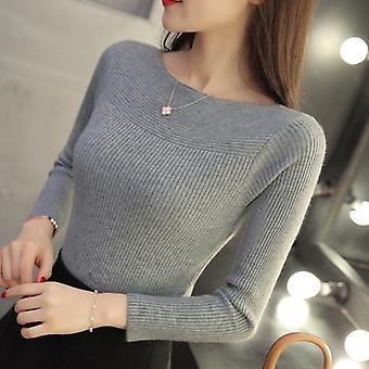 Primăvară Casual cu mânecă lungă toamna tricotate femei pulover pulovere