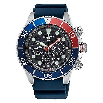 Seiko SSC785P1 Prospex Padi Silver & Blue Silicone Solar Diver's Men's Watch