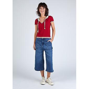 Lucia organic denim culottes