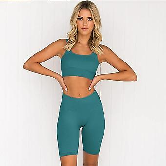 Naadloze Fitness Vrouwen Yoga Suit High Stretchy Workout Sport Set Gewatteerde Beha