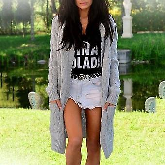 المرأة Hoodies معطف الكارديجان سترة طويلة