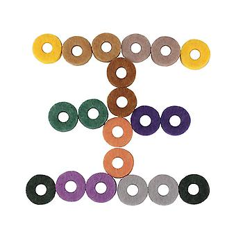 20 Pcs Cymbal Felt Pad Drum Percussion Instrument Accessories Kit Protection Effect for Drum Shelf Felt Slice Cymbals