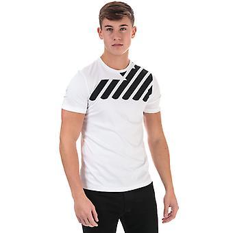 Menn's Armani Skulder Eagle T-skjorte i hvitt