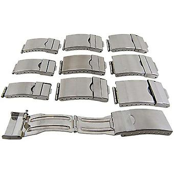 Watch strap clasp 3 fold adjustable safety stainless steel 16mm (10mm)