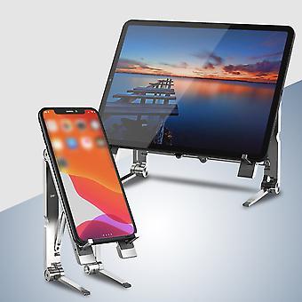 3 1 kannettava säädettävä sinkkiseos tabletti puhelimen jalustan pitimet ipadille / macbookille / kannettavalle tietokoneelle / älypuhelimelle (hopea)