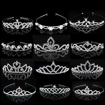 Princess Crystal Tiaras And Crowns Headband For Kid Hair Jewelry