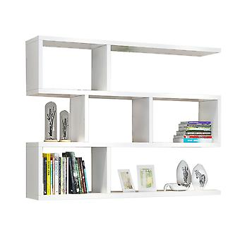 Simple 3 Tier Shelf Bookcase, Wall Mounted Floating Shelves for Living Room, Office, and Bedroom