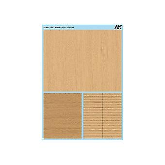 AK Interactive AK9081 Light Wood Decals 1/32 1/35 1/48