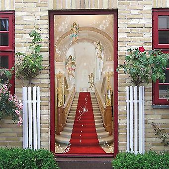 Red Carpet Heaven Design Mural Self-adhesive Vinyl Decal  Door Poster