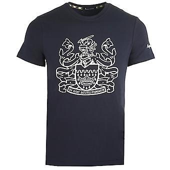 Aquascutum Aldis Logo Navy T-paita