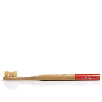 Cepillo de dientes Naturbrush Bambrush Bambú Biodegradable Rojo