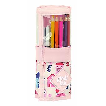 Pencil Case Glow Lab Välkommen Hem Roll-up Rosa (27 stycken)