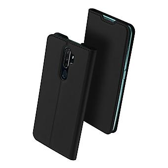 For oppo a9 2020/a5 2020 case shockproof anti fall flip flap cover black