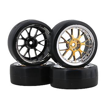 4 stk Y Form Plating fælg og dæk til RC1:10 på racerbil