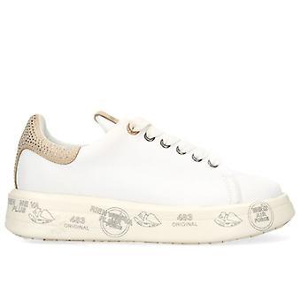 Sneakers Donna Premiata Belle 4540 Bianca Con Strass