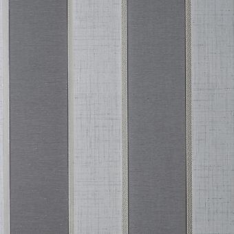 Larson Stripe Charcoal Gold Wallpaper
