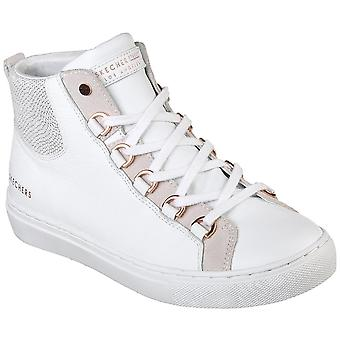 Skechers Womens Side Street St High Tops Lace Up Casual Shoes