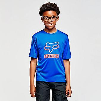 New Fox Boys' Youth Ranger Short-sleeve Jersey Blue