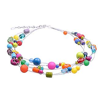 """by - """"Valeri"""" 5-wire necklace, mix of Polaris pearls and glass and acrylic, in many unusual colors and shapes, handmade by Ref. 425118860839"""