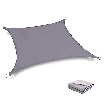 2*2M gray waterproof sun shade sail canopy uv resistant for outdoor patio x4851