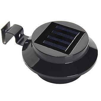 4 Pcs black 3led solar fence light, outdoor waterproof human body induction wall light az21554