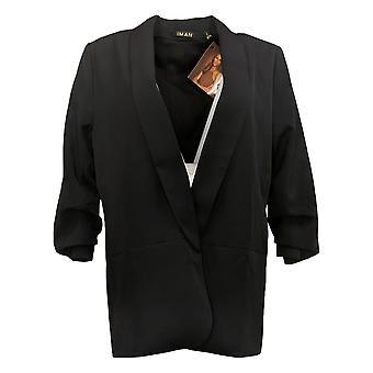 IMAN Global Chic Women's Everyday Blazer Black 740717