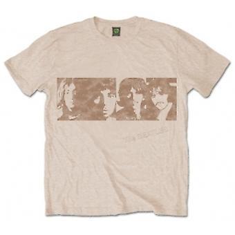 The Beatles White Album Gesichter Herren Sand T Shirt: Medium