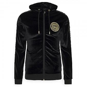Glorious Gangsta Mateo Black Velour Zip Up Hoody Sweatshirt