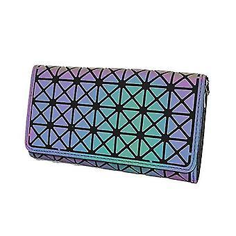 Women Holographic Laser Envelope Clutch Handbag , Chain Shoulder Bag Tote(Color 3)