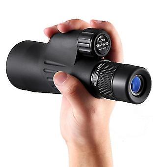 10-30x50 Teleskop monokularny Regulowany BAK4 FMC Powlekany Ręczny Bird Watching Smartphone